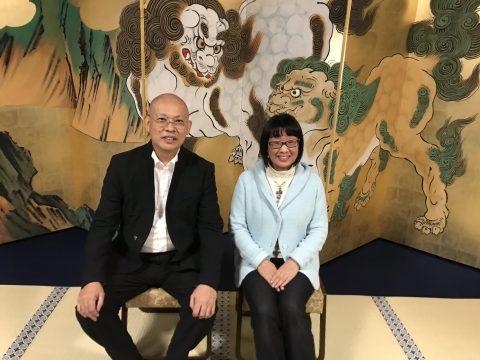 ホロンPBI鳥獣戯画模写講座の講師である長谷川透画伯の屏風絵の個展に駆けつけました。