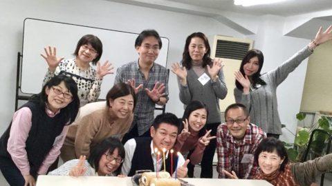 大阪NLPマスタープラクティショナーコースは、Mr.Hamaのお誕生日と重なり、マロングラッセロールケーキでお祝いしました