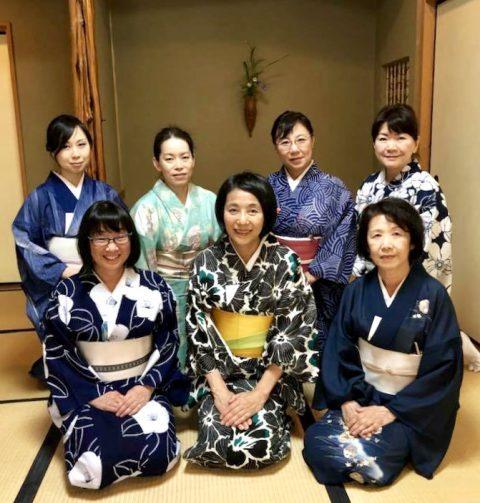 NLPトレーナー会日本文化探究部の真夏のお茶事は浴衣で集まりました。