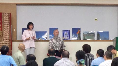 成瀬雅春先生の倍音声明と特別講座です。