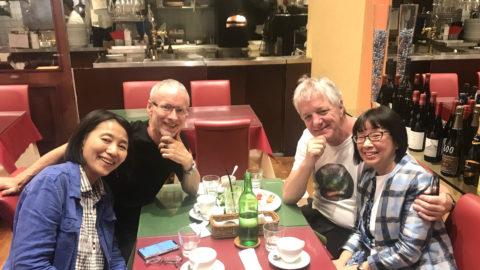 長野県 水輪でのギリガン博士のスーパーヴィジョンを終え東京に戻り、羽田空港からアメリカへ発つ先生をお見送りしました。